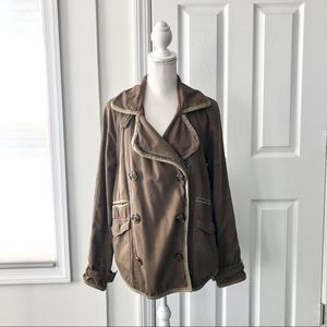 Free People Double Breasted Zip Utility Jacket S